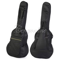 acoustic gitar - New Arrival Durable Soft Acoustic Guitar Bass Case Bag Holder With Double Padded Straps Inch Convenient Music Fan