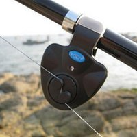 Wholesale Top quality Rod Fish Finder Sound Alarm Alert Bell for Fishing LED Light Clip On Electronic