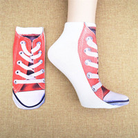 Wholesale Cartoon D Printing Sock Slippers Socks novel Color Design Sport Unisex Cotton Short Ankle Socks Z