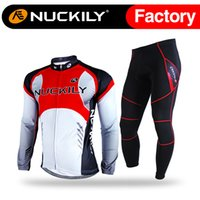 best cycling jacket - Nuckily Outdoor best selling men s fleece long cycling clothing sets mens waterproof windproof bicycle jacket sets NJ530 W NS900 W