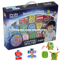 baby magic boy - Educational BB Toys child magic number transformer robot digits puzzle boy toy Christmas Gift for baby Kids