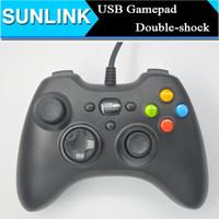 USB Filaire Contrôleur de Jeu Manette Xbox360 Double-choc Joypad Joystick Vlbration Ugame Pour ordinateur Portable ordinateur PC Nouveau