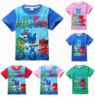 baby k clothing boys - New Cartoon Summer Children Kids Boys Girls Short T Shirt For Cotton Baby Boys Girls Tops Tees Clothing Bebe Clothes P J M A S K S