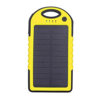 Wholesale Portable Solar Battery Charger Panel USB Ports V Mobile Phone Smartphone Cellphone Waterproof Mini Travel Outdoor Universal Power Bank