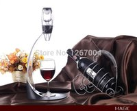 Wholesale 1 set Wine Aerator Tower Gift Box Set Red Wine Aerator Magic Decanter Wine Aerating Decanter Bottle Glass