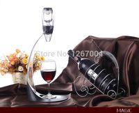 wine glass box - 1 set Wine Aerator Tower Gift Box Set Red Wine Aerator Magic Decanter Wine Aerating Decanter Bottle Glass
