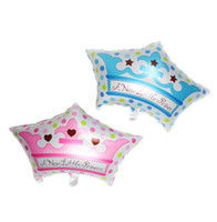 alu foil - 50pcs alumnum balloons Festival party supplies Cheap New Crown Foil Balloons decorated baby birthday party crown moldings factory direct alu