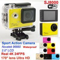lens optical - SJ8000 WIFI Action camera Novatek Ultra HD K FPS MP Sport Cam Helmet Camera Diving M waterproof go pro camera D lens