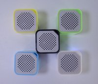 Wholesale mini speaker Square Bluetooth Speaker Smart Box Smallest Portable Outdoor Bluetooth Soundbox Self time Remote Shutter YX