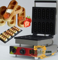 Wholesale 10pcs Commercial Use Non stick v v Electric Chocolate Waffle Sticks Baker Machine Maker Iron