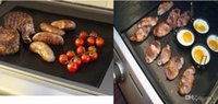 Wholesale BBQ Grill Mat Barbecue Grilling Liner Portable Non stick and Reusable Make Grilling Easy Oven Hotplate Mats CM MM Black free DHL