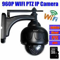 Wholesale 1 MP hd IP Camera wireless p ip surveillance mini PTZ dome pan tilt outdoor waterproof wifi webcam security cameras sd card slot audio