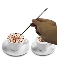 Wholesale Cappuccino Flower Pin Stipa DIY Fancy Coffee Garland Needle Stainless Steel Carved Stick Art Pen
