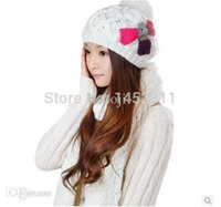 designer hat and scarf - Free Shippping Women Wool Knitted Warm Scarf And Hat Set Winter Fashion Designer Scarfs Hats For Female Top Quality
