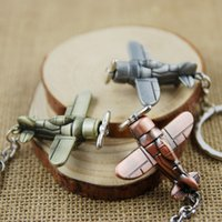 aircraft fighter jets - World War II retro bombers fighter jets aircraft keychains pendant Halloween Carnival gift key buckle Car Cartoon Keychains