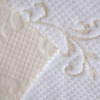 knit fabric - Factory Price Mix Order Fabric h007 White Polyester Jacquard Scuba Knitting Fabrics for Memory Foam Mattress
