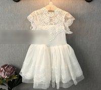 korean fashion clothing - 2015 Summer Kid s Clothes Princess Korean Vintage Lace Sleeveless Hollow Dress Fashion Casual Floral Ruffle Gauze Tiered Dress N0410