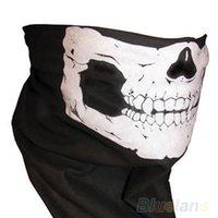 Wholesale Skull Bandana Bike Motorcycle Helmet Neck Face Mask Paintball Ski Sport Headband J