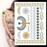 beautiful hand tattoos - Factory Direct beautiful blue gemstone bracelet stickers waterproof tattoos tattoo stickers Europe and the trend