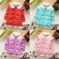 Wholesale Kids Baby Girl Clothes Winter Coat Children Down Jacket Snowsuit Dot Outwear