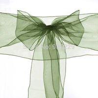 beautiful wedding receptions - Beautiful Classic New Decor Green X Organza Chair Cover Sash Bow Wedding Anniversary Party Reception Decoration