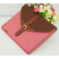 Wholesale New Arrival Rotating Belt Leather Case Smart Cover Stand colors for iPad Colorful Case for iPad DHL