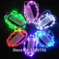 copper coins - White flat coin battery box M leds many colors led tiny wire copper string light for clothes flower decoration