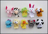 Wholesale 2015 hot different Animal soft plush Puppet toys kids gift finger dolls baby fairy tale stuffed finger toys J071002 DHL