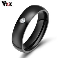 Cheap Fashion wedding rings for women stainless steel rings with CZ stone high quality gold&rose gold&black&silver color ring jewelry