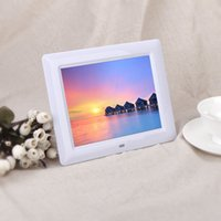 Wholesale 7 quot HD TFT LCD Digital Photo Frame with Slideshow Alarm Clock MP3 MP4 Movie Player with Remote Desktop US Plug White