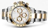 Precio de Esfera blanca para hombre de los relojes automáticos-Relojes de lujo de los hombres de la alta calidad Relojes de los hombres del día del reloj del acero inoxidable del oro del dial del movimiento automático
