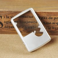 Wholesale LED Card x x Magnification Lupa Magnifying Glass Loupe Magnifier Handheld Mini Repair Tools B