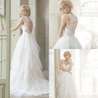 Real Photos beach wedding photos - Vintage Wedding Dresses Beach Hayley Paige Real Photos Custom Made Crystals Sexy Backless Plus Size Sweep Train Long Bridal Gown