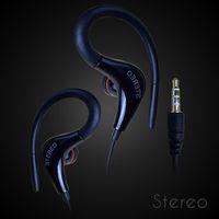 Wholesale Waterproof Sweatproof Earphones Sports Running Headphones HIFI Stereo Bass Headset Ear Hook Earbuds Handsfree With Mic Colors