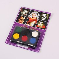 Wholesale Colors Halloween Face Paint Kids Makeup Halloween Carnival Party Sports Face Paints Festive Tattoo water proof Face art
