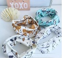 Wholesale 5pcs Children s Scarves Fashion Accessories Cotton cartoon Print Scarf Circle baby Loop Scarves kids Scarves printing scarf
