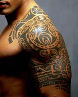 Wholesale Waterproof Tattoo Sticker Wrestler Dwayne Johnson Half a Totem Tattoo Arm Sticker Shoulder Decoration Temporary Tattoo Stickers