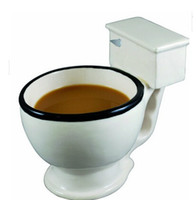 Wholesale Hot sale Creative white toilet glass water glass for Halloween coffee mugs milk cups popular bottle