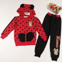 Cheap 2015 Autumn New Girl Sets Polka Dot Coat With Pants Girl Sport Casual Two Piece Sets Children Clothes 2-6T 31321