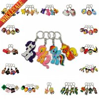 Wholesale 500pcs Mixed Despicable Me Avengers TMNT Cars Minions Frozen D Keychains Key Ring For Bags Cartoon Characters Key Accessories Party Gift
