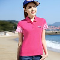 Wholesale Women s short sleeve Polo shirt female summer large size loose embroidery yellow shirt