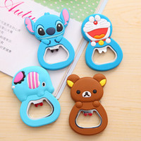 Wholesale Cartoon bottle opener screwdriver Lovely silica gel multi function creative gifts Practical with magnetic refrigerator