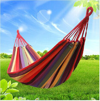 Wholesale camping hammock swing outdoor thickening canvas hammock casual single double bearing picnic padZy00257