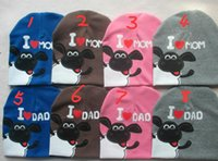 baby sheep for sale - 2015 new hot sale baby hat spring fall hats for children knitted Shaun sheep newborn photography props I love mon dad baby cap