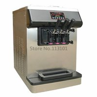Wholesale Commercial Soft Ice Cream Machine with Rainbow Strip System Stainless Steel Body R404a with UK pin plug