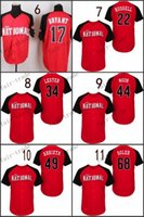 Wholesale 2015 All Star National Chicago Cubs kris BRYANT addison russell Baseball Jerseys Cheap Authentic Stitched Size