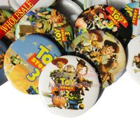 toy story clothing - Cute Party Gifts Lovely mm Toy Story Cartoon Buttons Pins Badges Round Brooches Badges Party favor Kid s Gift Clothes Bags Decoration