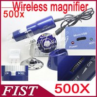 Wholesale 2014 Hot Sale X WIFI Wireless Digital Microscope for iPhone iPad Android Mobile phone and Tablet PC