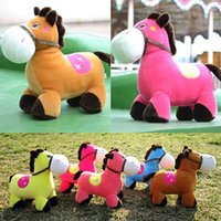 horse doll - New Style Plush Toys For Kids Lovely Rainbow Horse Stuffed Doll Cartoon Toys Boys Girls Good Gift Home Accessories Mix Colors