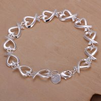 best kelp - Hot sale best gift silver Full kelp bracelet DFMCH177 brand new fashion sterling silver Chain link bracelets